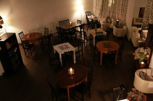 Spacious room at Ziferblat coffee shop