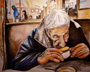 Ilustração da campanha do Suspended Coffee