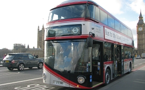 The New Routemaster, specially silver-painted to mark the year