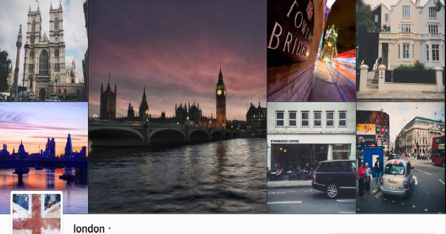 @london Instagram / O Instagram da conta @london